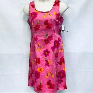 Sag Harbor hot pink floral sheath dress
